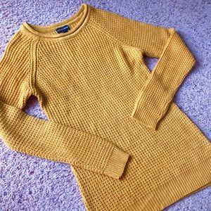 Ambiance Sweaters - Ambiance Apparel gold tunic sweater, medium